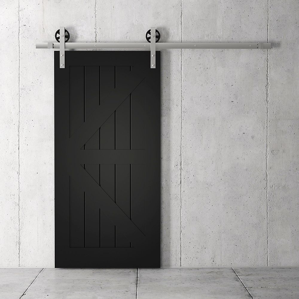 URBAN WOODCRAFT Manhattan Kit de porte de grange 83 x 40 po avec quincaillerie