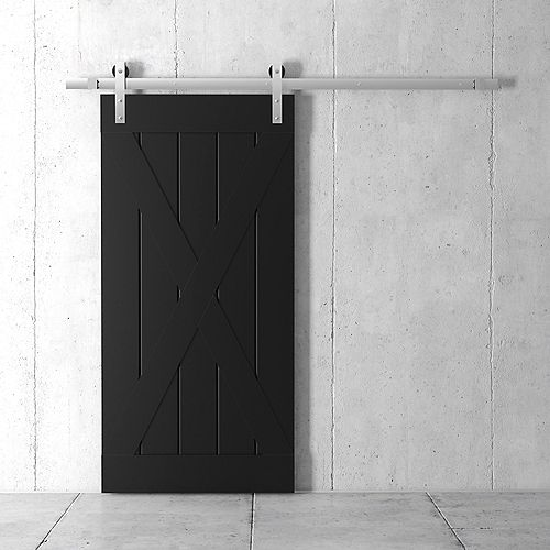 83x40 Inch Tall X Barn Door Kit with Hardware in Espresso