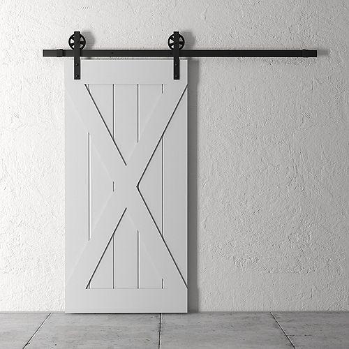 83x40 Inch Tall X Barn Door Kit with Hardware in Grey