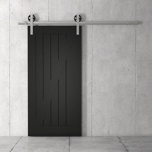 URBAN WOODCRAFT California Z Kit de porte de grange 83 x 40 po avec quincaillerie