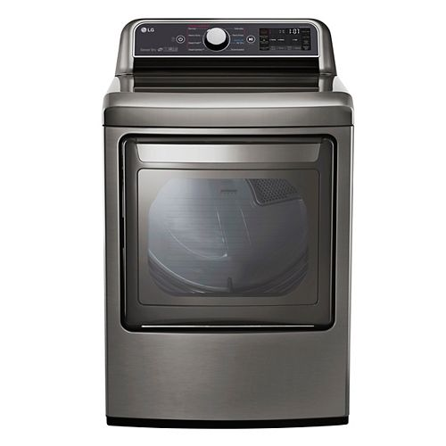 7.3 cu.ft. Electric Dryer with Ultra Large Capacity and Dual-Opening Door in Graphite Steel - ENERGY STAR®