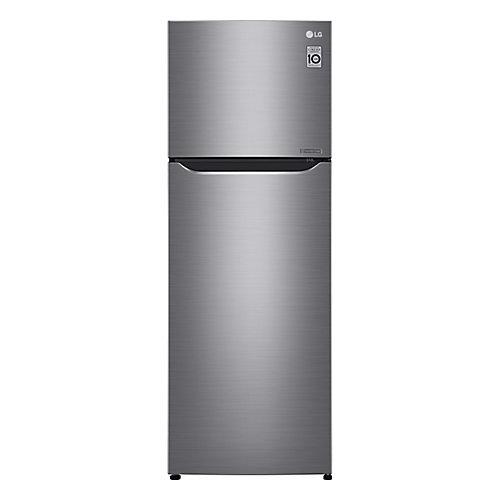 Réfrigérateur supérieur de 24 po W 11 pi.cu. en argent platine pour congélateur, profondeur du comptoir