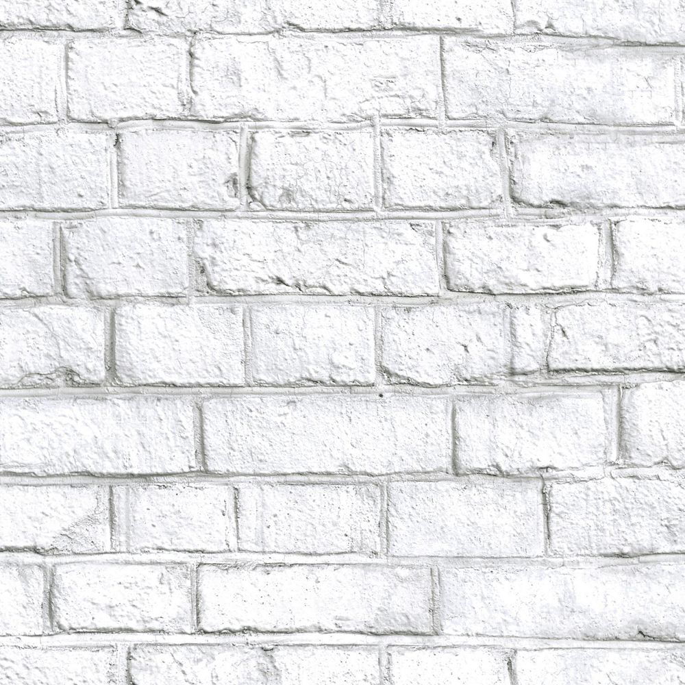 Roommates White Brick Peel Stick Wallpaper The Home Depot Canada