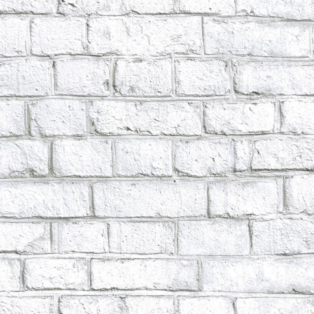 RoomMates White Brick Peel & Stick Wallpaper | The Home ...