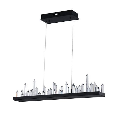 45 inch LED Chandelier with Black Finish From our Juliette Collection