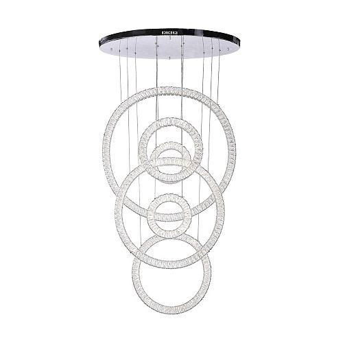 34 inch Celina LED Lumière Lustre avec Fini Chrome