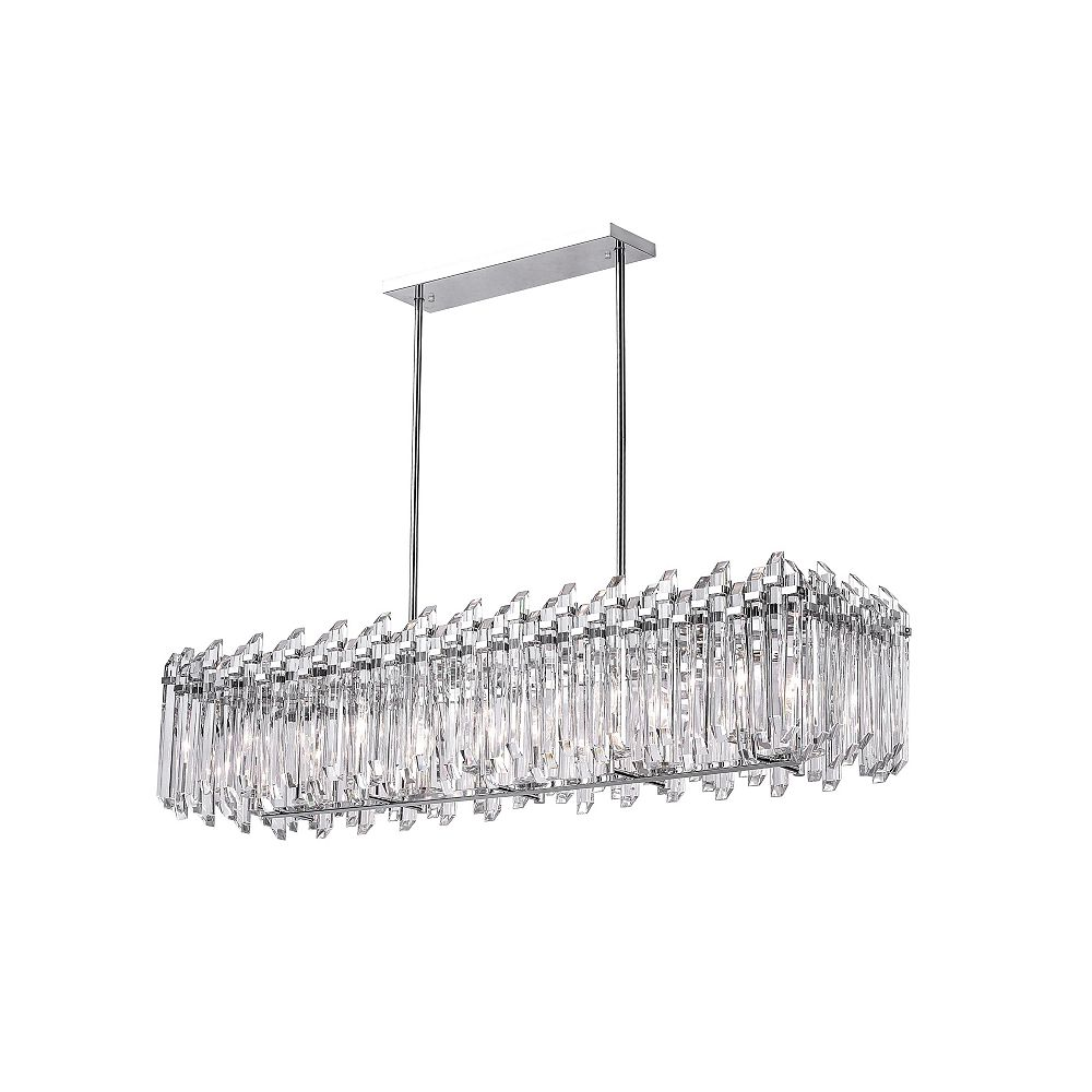 CWI Lighting 47 inch 10 Light Chandelier with Chrome Finish From our Henrietta Collection