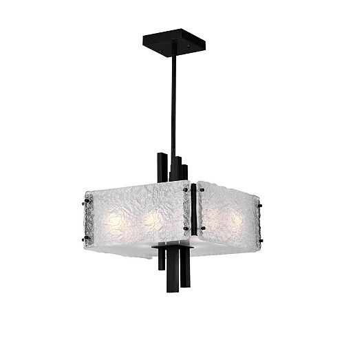 CWI Lighting 13 inch 6 Light Pendant with Black Finish From our Assunta Collection
