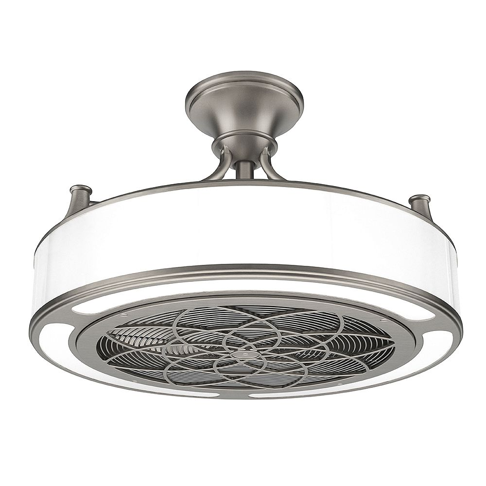 Stile Anderson 22 Inch Led Indoor Outdoor Brushed Nickel Ceiling Fan With Remote Control The Home Depot Canada
