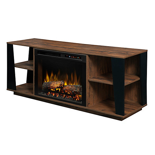 Arlo Media Console Electric Fireplace with Log Bed