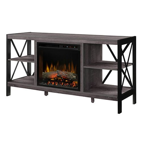 Dimplex Ramona 65-inch Electric Fireplace and Log Set in Autumn Bronze with 23-inch Media Console