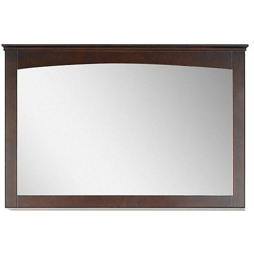 """48"""" L 31.5"""" H Miroir en bois de placage de contreplaqué-placage moderne en noyer"""