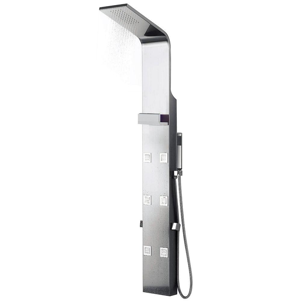 American Imaginations Panneau de douche rectangulaire à montage mural, laiton, ton chrome