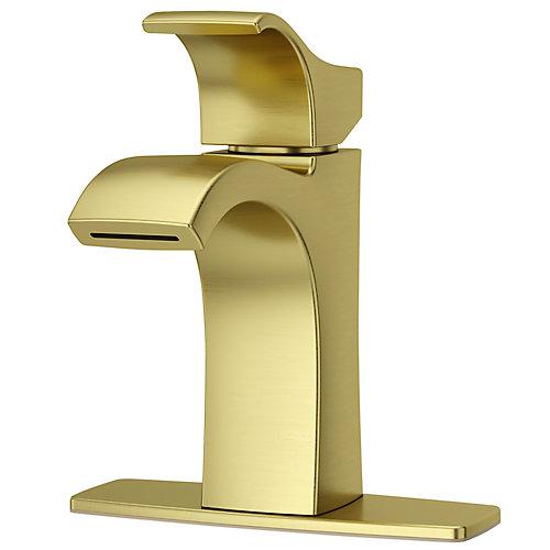 Robinet de lavabo à 1 poignée Venturi en fini or brossé