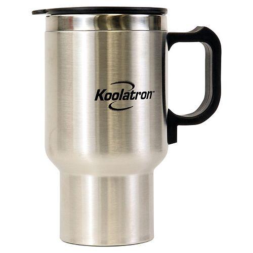 12V USB Travel Mug Silver