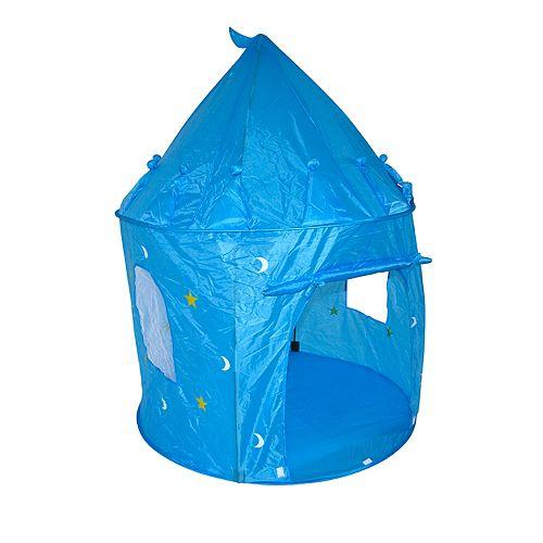 Tente de jeu, château bleu royal