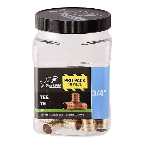 Pex Tee 3/4 inch (10-Pack)