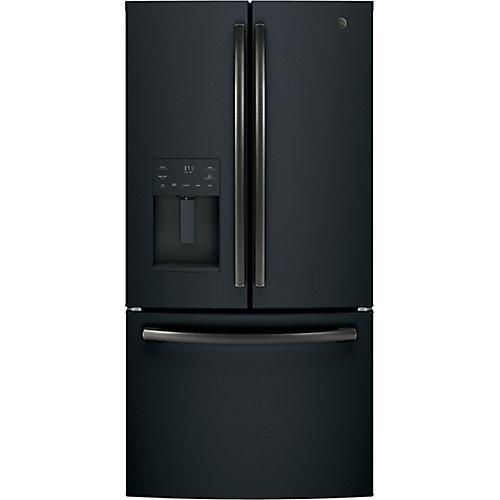 36-inch 25.6 cu. ft. French Door Refrigerator in Black Slate, ENERGY STAR