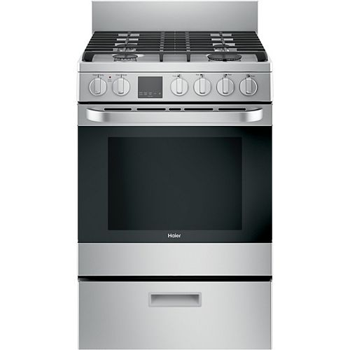 24-inch 2.9 cu. ft. Gas Range Convection Oven in Stainless Steel