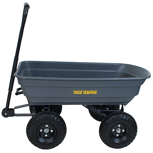 Easy Dump 4 cu. ft. Poly Wagon Cart