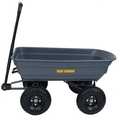 Easy Dump 4 cu. ft. Poly Wagon Cart