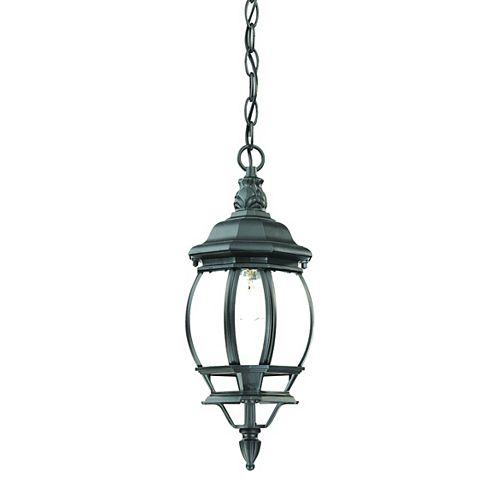 Chateau Collection Hanging Lantern 1-Light Outdoor Matte Black Light Fixture