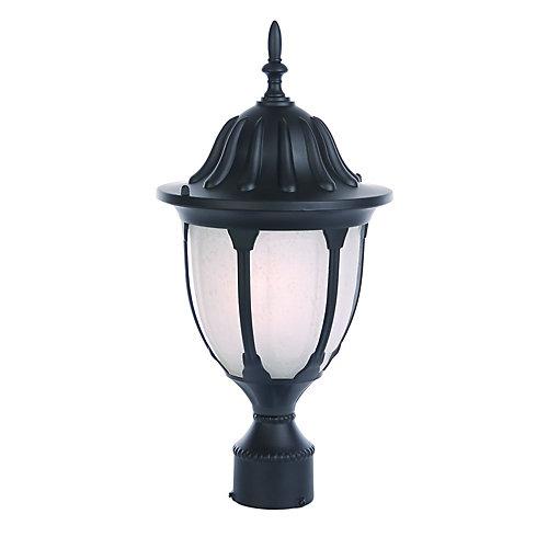 Suffolk Collection Post-Mount 1-Light Outdoor Matte Black Light Fixture