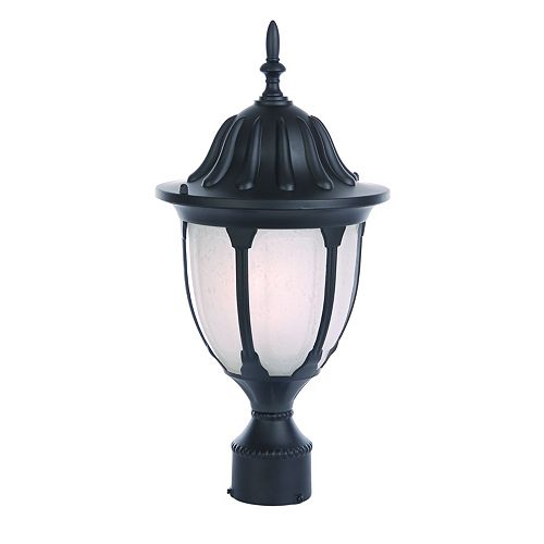 Suffolk collection post-Mount 1-lumière mat extérieur Matte luminaire noir
