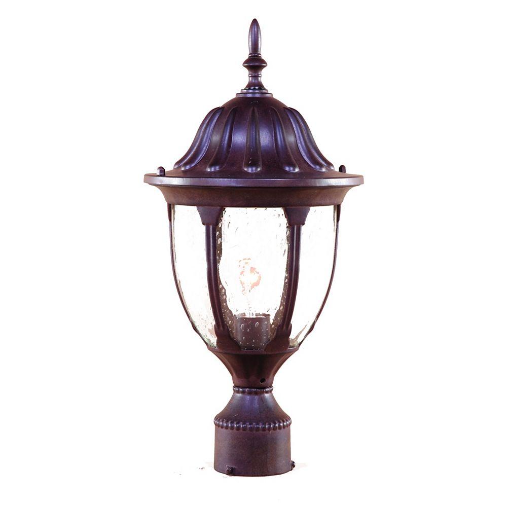 Acclaim Suffolk collection post-Mount 1-lumière extérieure ronce noyer luminaire