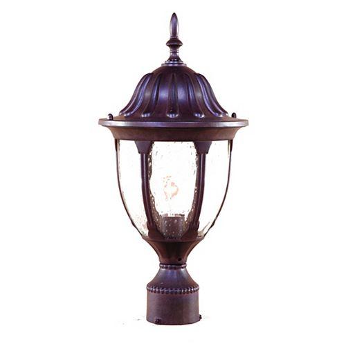 Suffolk collection post-Mount 1-lumière extérieure ronce noyer luminaire