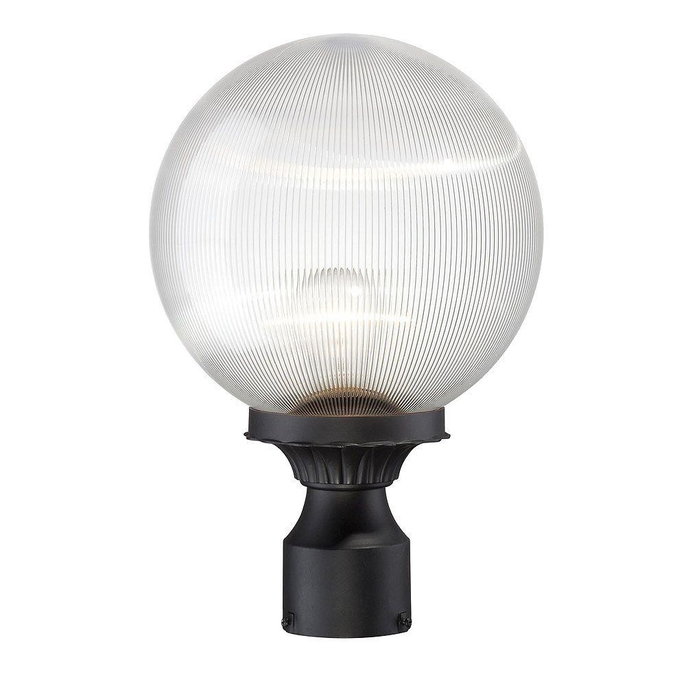 Acclaim Tête de lampadaire extérieur à 1 ampoule en fini noir mat de la Collection Havana