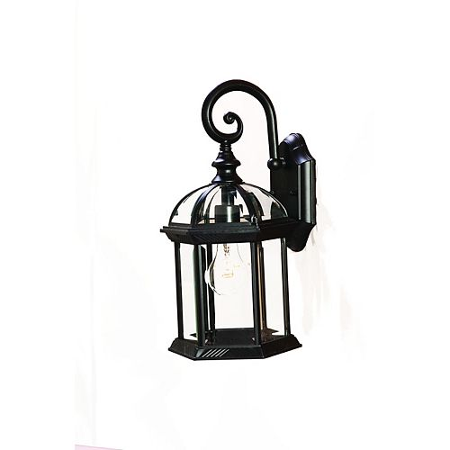 Acclaim Dover Collection Wall-Mount 1-Light Outdoor Matte Black Fixture