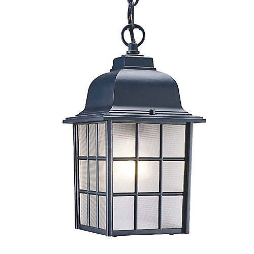 Nautica Collection Hanging Lantern 1-Light Outdoor Matte Black Fixture