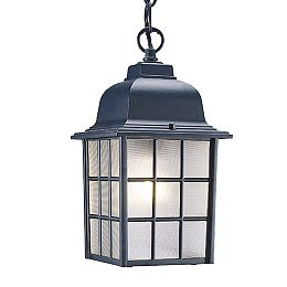 Nautica Collection Hanging Lantern 1-Light Outdoor Matte Black Fixture