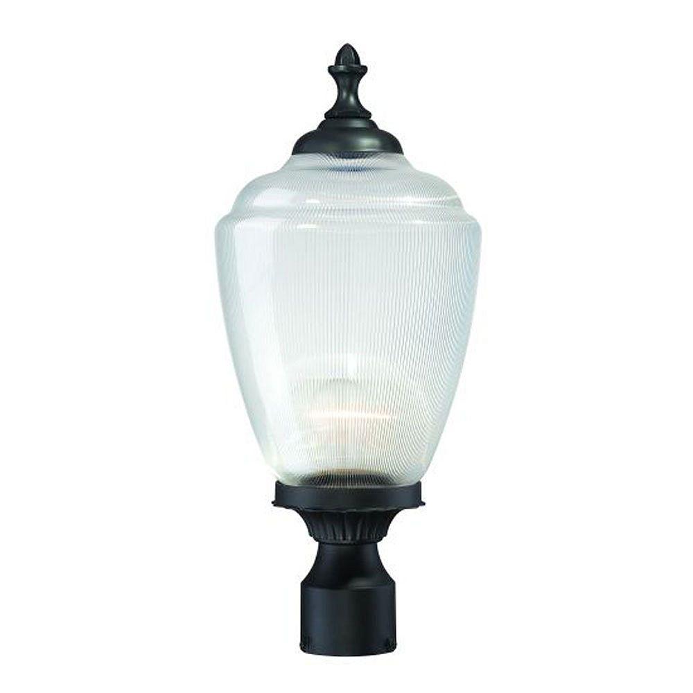 Acclaim Tête de lampadaire extérieur noir mat à 1 ampoule de la Collection Acorn