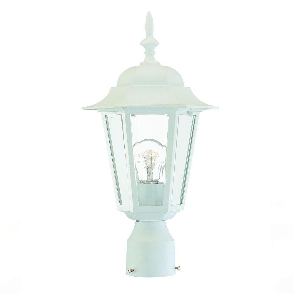Acclaim Tête de lampadaire extérieur blanc à 1 ampoule de la Collection Camelot