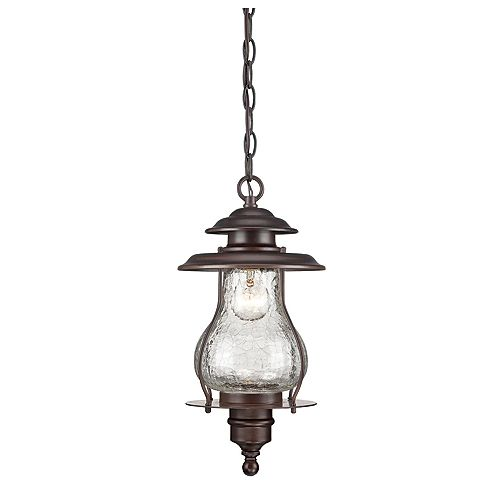 Blue Ridge Collection  1-Light Outdoor Hanging Lantern in Architectural Bronze