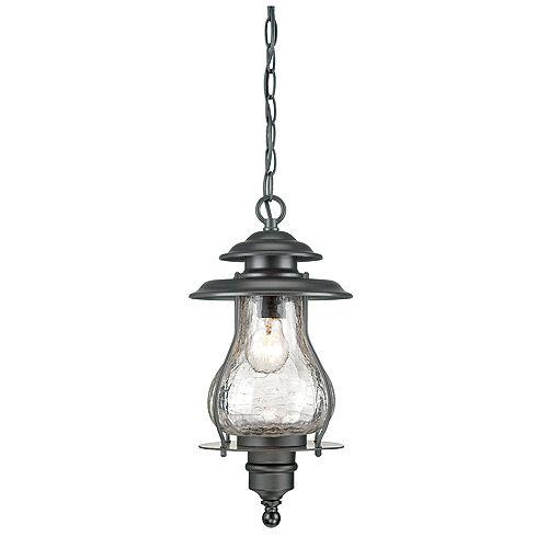 Blue Ridge Collection  1-Light Outdoor Hanging Lantern in Matte Black