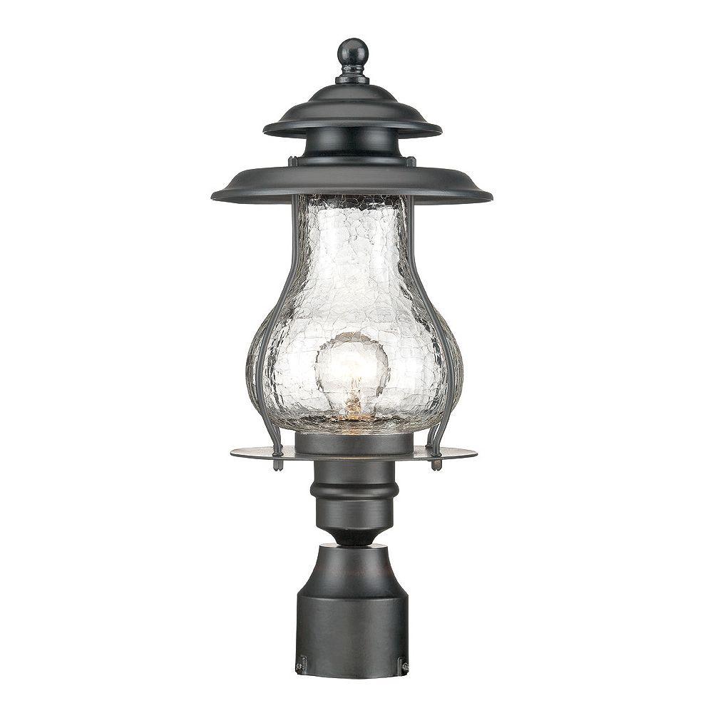 Acclaim Tête de lampadaire extérieur à 1 ampoule en fini noir mat de la Collection Blue Ridge