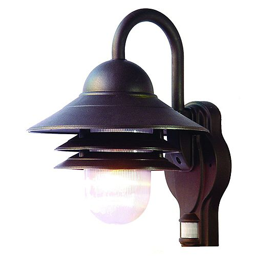 Mariner Collection Wall-Mount Motion Activated 1-Light Outdoor Fixture