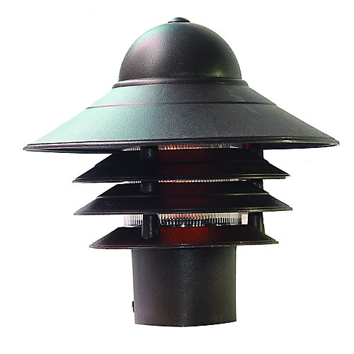 Mariner Collection Post-Mount 1-Light Outdoor Fixture in Architectural Bronze