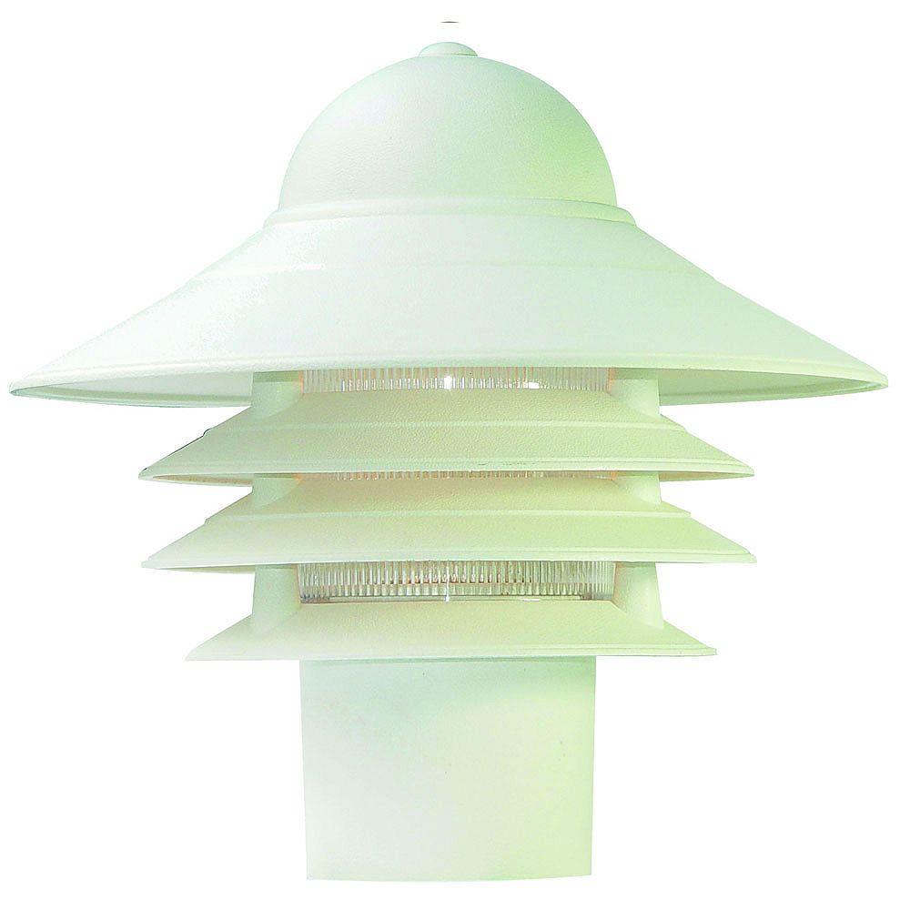 Acclaim Tête de lampadaire extérieur blanc à 1 ampoule de la Collection Mariner