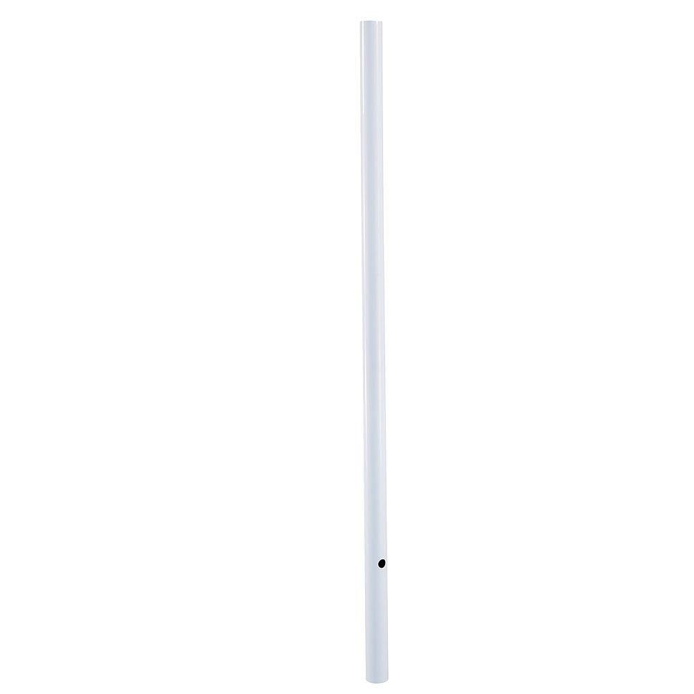 Acclaim Blanc Poteau de lanterne lisse de 2.13m ou 7 pieds de sous la pleine terre
