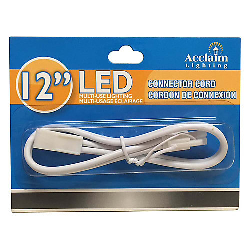 12 inch Connector Cord for Undercabinet LED - White