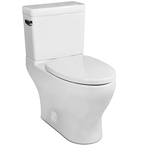 Icera The Cadence II Compact Elongated 2-Piece Skirted Toilet (White)