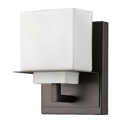Acclaim Rampart Indoor 1-Light Sconce Vanity with Glass Shade In Oil Rubbed Bronze