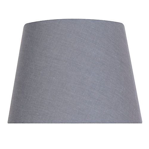 12 inch DIA Dark Grey Cotton Blend Midsize Lamp Shade