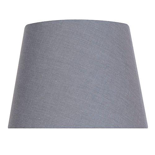 """Abat-jour de lampe de taille moyenne en coton mélangé gris foncé DIA. 12"""""""
