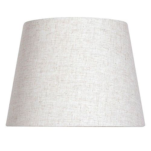 12 inch DIA Oatmeal Linen Blend Midsize Lamp Shade