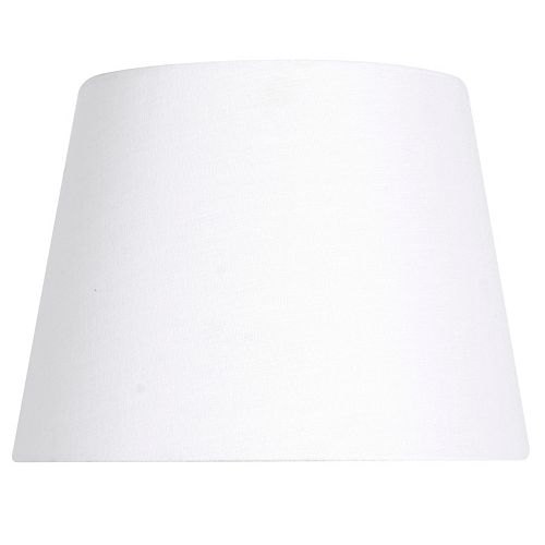 12 inch DIA White Linen Blend Midsize Lamp Shade